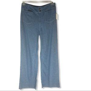 NWT Anthropologie High Rise Wide Leg Denim Jeans